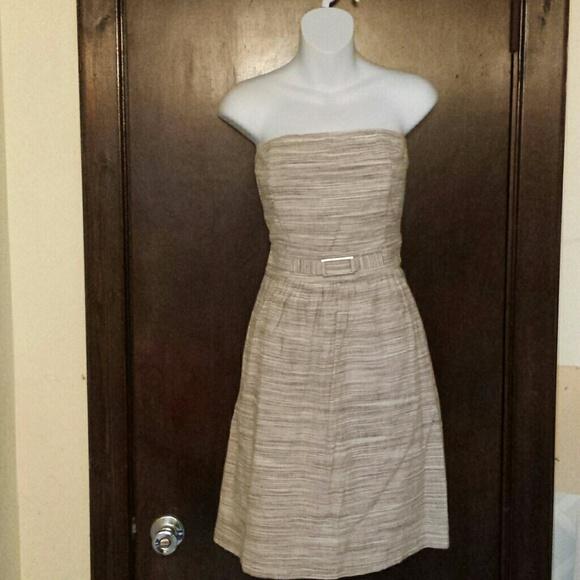 94d14b958c Banana Republic Dresses   Skirts - Banana Republic Stone Tan Linen Blend  Dress